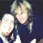 Jay with Glenn Tipton from Judas Priest