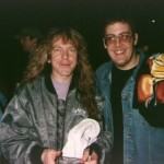 Jay with Jannick Gers from Iron Maiden