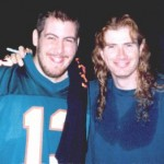 Jay with Dave Mustaine from Megadeth