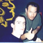 "Jon with Tim ""Ripper"" Owens from Judas Priest, Yngwie Malmsteen, HAIL, Iced Earth, and solo"